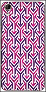 Snoogg Tube Well Designer Protective Back Case Cover For HTC Desire 728