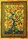 Tree of Life Tapisserie Wand Decor Wand oder zum Gemälde Gelb