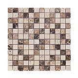 Mosaikfliesen Naturstein 30 x 30cm 1 QM/11 Stück I Vezzo Ceramica I Serie 20136, Rutschhemmend