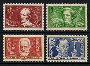Timbres France Yvert n°330/333, Chômeurs intellectuels 1936, série complète, neuf sans charnière TB 1er choix