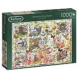 Jumbo Spiele 11190 - Puzzle Falcon Country Calendar, 1000 Pezzi