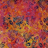 Fabric Freedom Orange Enigma Design 100% Baumwolle Bali Batik Tie Dye Muster Stoff für Patchwork, Quilten &,–(Preis Pro/Quarter Meter)