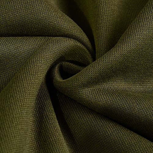 TYHHK Frauen Langarm Pullover Pullover Mantel Sweatshirt Outwear Pullover Armeegrün