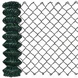 [pro.tec] Clôture Vert zingué [1,25m x 25m] Grillage Grillage à Mailles hexagonales