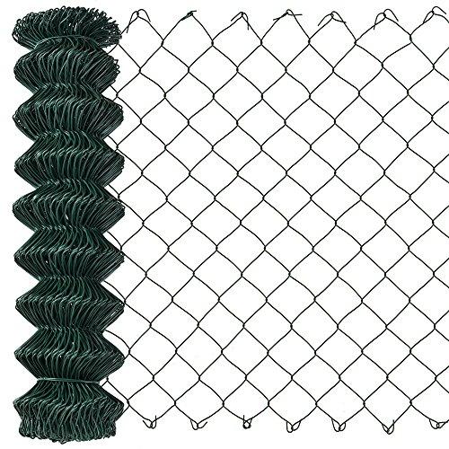 [pro.tec] Maschendrahtzaun grün verzinkt (1,5m x 25m) Schweißgitter Volierendraht Zaun