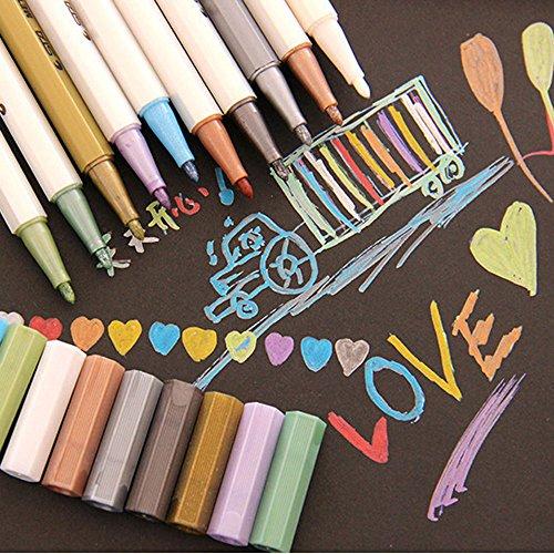 wer-set-von-10-farben-cool-matalic-malstifte-multi-farbe-faserspitze-magic-stifte-funky-glas-fluores