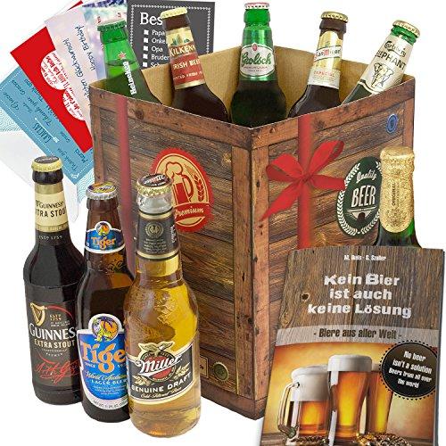 Geschenkideen für Männer BIERE DER Welt Geschenkbox + gratis Bier Buch + Geschenk Karten + Bierbewertungsbogen. Bier Geschenke aus Frankreich + Thailand + Kroatien +…Mythos + Litovell hell + Budweiser +… Bier Geschenke für Männer. Geschenk Geburtstagsgeschenke Vater Geschenke für Männer Geschenkideen bester Freund Biersorten der Welt Geburtstagsgeschenke für Ehemann für Papa