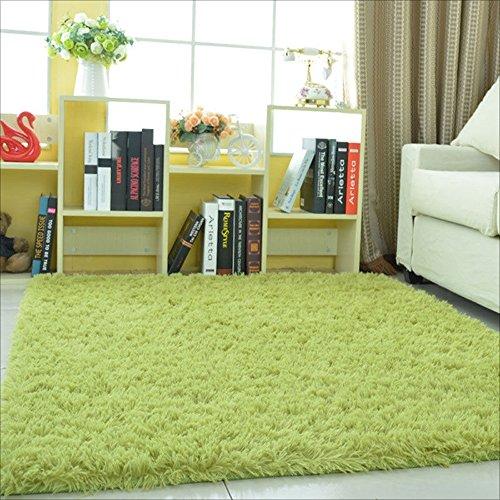 Alfombra antideslizante suave antideslizante y de la Anti-Polvo de la alta calidad, alfombra peluda peluda Alfombra grande simple moderna de la mesa de centro de la sala de estar de la alfombra Verde 0.5 M * 0.8 M ( Size : 0.5*2m )