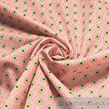10 Meter Stoff Baumwolle rosa Prilblume hellgrün