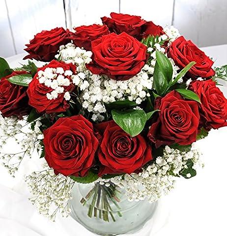 ❤ Finest Red Naomi Rose Luxury Flower Bouquet – Finest