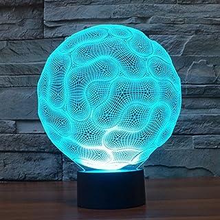 Alisabler 3D Lamp Horror Brain Night 7 Color Change Best Gift Night Light LED Furnish Desk Table Lighting Home Decoration Toys