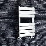 iBathUK 650 x 400 White Flat Panel Heated Towel Rail Bathroom Radiator - All Sizes