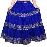 Decot Paradise Women's Cotton Skirt, Free Size (Blue, DL3121)