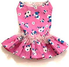 That Dog in Tuxedo Pink Camellia Floral Dog Dress (16)