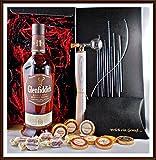Geschenk Set Glenfiddich 18 Jahre Whisky + Flaschenportionierer + 10 Edel Schokoladen von DreiMeister & DaJa + 4 Whisky Fudge kostenloser Versand