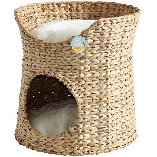 Me & My Pets Geflochtenes Doppel-Katzenbett aus Seegras -