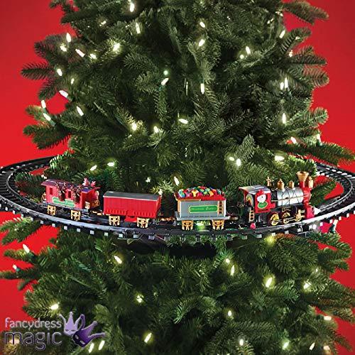 Shatchi Weihnachtszug-Set, rund um den Baum, Weihnachtsdekoration, Festliche Beleuchtung und Klänge, Einheitsgröße