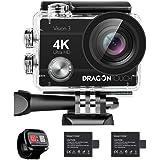 Caméra Sport 4k Dragon Touch Vision 3 WiFi avec Télécommande 2.4G,Caméra Sportive Etanche,Grand Angle 170°,2 Batteries…