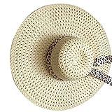 beIilan Estate delle Donne Paglia Cappello a Tesa Larga Ragazze Viaggio Beach Pesca Parasole Cappellino da Outdoor Panama cap Lady Color Crema