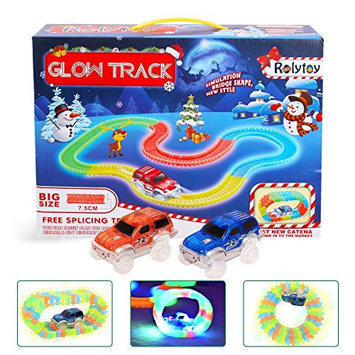 Magic Glow Track DNYCF Circuit Flexible (3.57 mètres) Jouet DIY Construction Magic Rails...