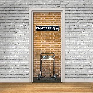 Hysenm Poster3D de porte en PVC autocollant, Tissu, Harry Potter, 77*200cm