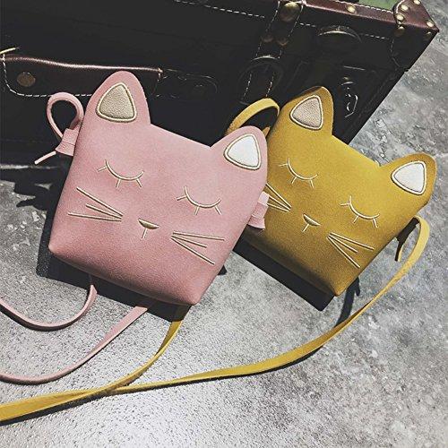 sundatebe , Damen Schultertasche, rose (Pink) - 1004QI8998422UHBB gelb