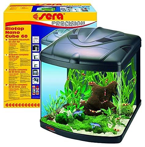 sera 31102 Biotop Nano Cube 60 ein 60l Süßwasser Komplettaquarium mit PL-T5 Beleuchtung und