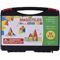 Kids Trends Magnetic Magictiles,3D Blocks Connect for Kids for Educational Excellence,STEM Development,Translucent,32…