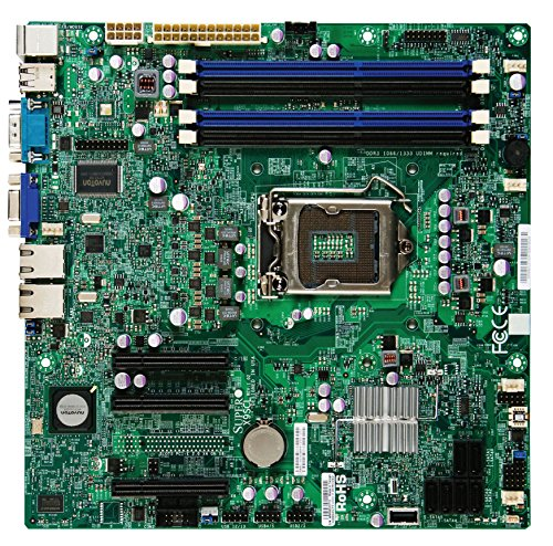 Supermicro MBD-X9SCL-O Mainboard Sockel LGA 1155 (micro-ATX, Intel C202 PCH, 4x DDR3-Speicher, 6x SATA II, 9x USB 2.0) blau