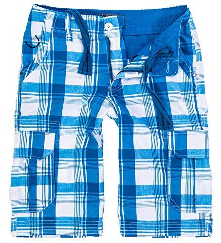 Rock Creek Herren Karoshorts Bermuda Hose CAGO-Shorts Sommer Hose kurz Shorts Herrenshorts H-158 L Blue5