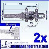 2x Exzenterverschluss Spannverschluss Bordwandverschluss 265mm mit Langgriff