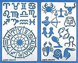 Aleks Melnyk 29 Bullet Journal Pochoir Métal/Signes du zodiaque, Astrologie/acier inoxydable Planner Pochoirs Journal/Notebook/Journal/Scrapbooking/Artisanat/Modèle de dessin bricolage Pochoir