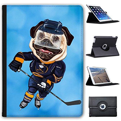 """Eishockey Mops mit Schlittschuhen & Schläger Case Cover / Folio aus Kunstleder für das Apple iPad Pro 9.7"""""""
