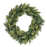 déco noël - couronne de noël - diamètre 60 cm - coloris vert