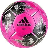 adidas Team Glider - Pallone da Calcio, Unisex, DY2508, Solar Pink/Black/Silver Metallic, 4