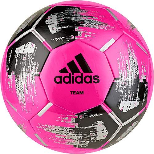 adidas Team Glider Fußball, solar pink/Black/Silver metallic, 5