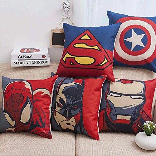 Fabzi India 3D Digital Canvas Jute Cushion Cover Set of 5 16x16...