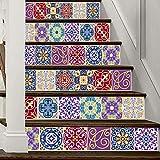 HAIMACX Treppenaufkleber Farbe Fliese Kreative Heimat Treppe Aufkleber Korridor Treppen Dekorative Aufkleber 100 * 18Cm * 6 Packungen