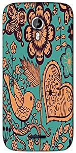 Snoogg seamless texture with flowers Designer Protective Back Case Cover For Micromax A117