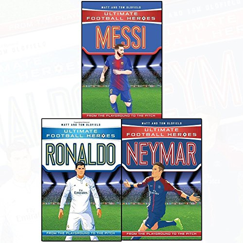 Ultimate Football Heroes Football Collection series 1 : 3 books set ( Collect Them All -Messi,Neymar,Ronaldo)