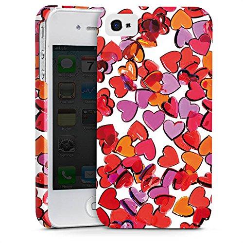 Apple iPhone X Silikon Hülle Case Schutzhülle Liebe Herz Muster Premium Case glänzend