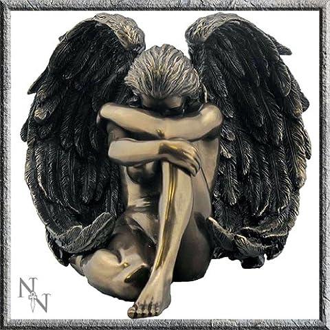 Bronze Effect Seductive Angel Female Figurine 16.5