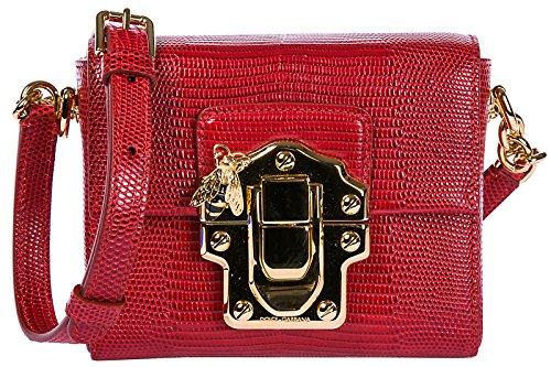Dolce & Gabbana Umhängetasche Damen Tasche Schultertasche Messenger Leder lucia Ro
