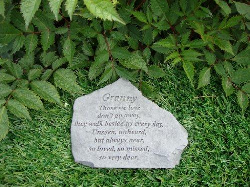 Kay Berry Ireland Pierre commémorative d'une grand-mère avec inscription en anglais Pour une tombe/un jardin