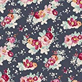 Tilda Memory Lane flowercloud Dark Slate von der Meter,