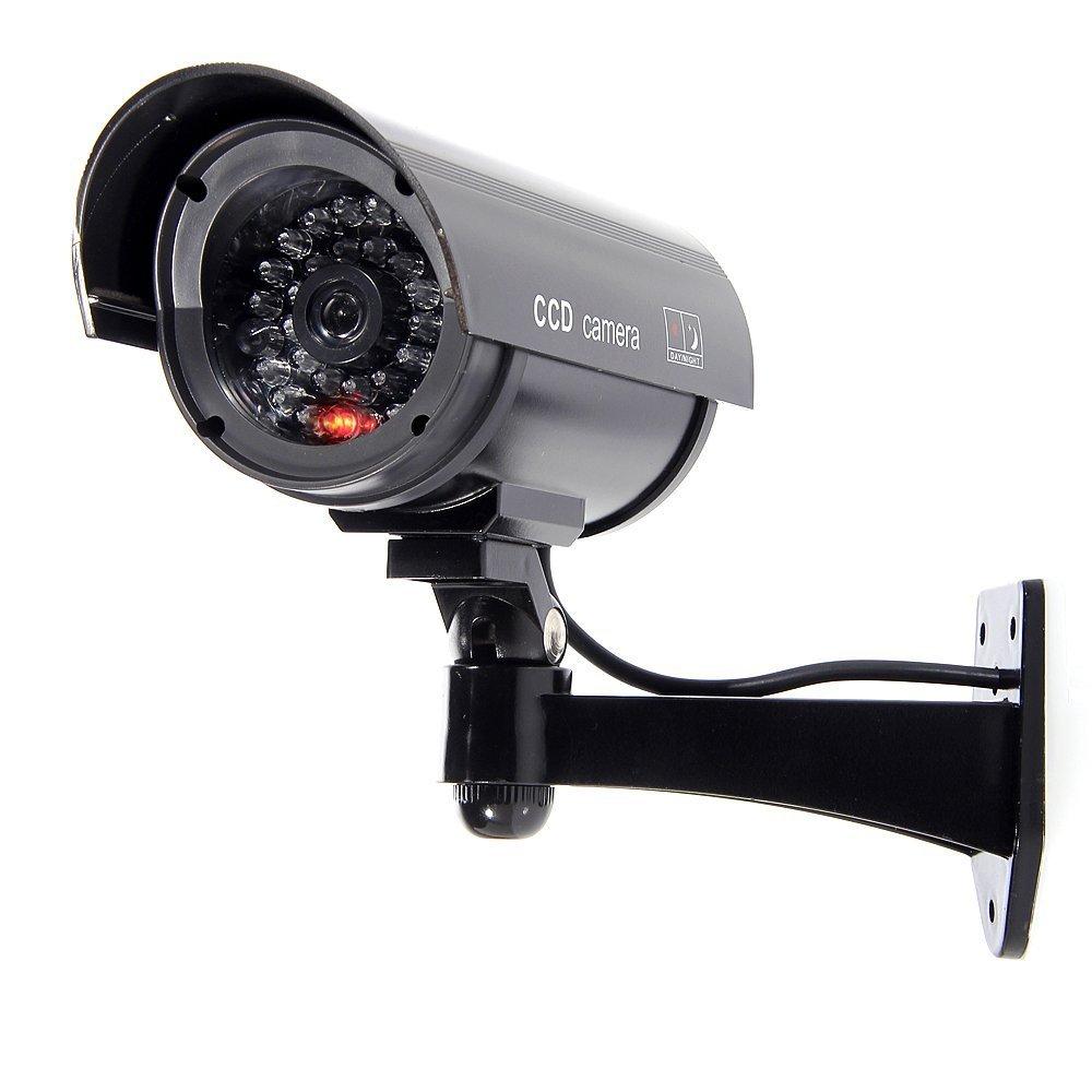 3xQuality Dummy Fake Outdoor Indoor CCTV Security Camera Blinking W/led Nightcam