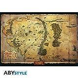 Poster Der Hobbit–Karte Mittelerde–98x 68cm