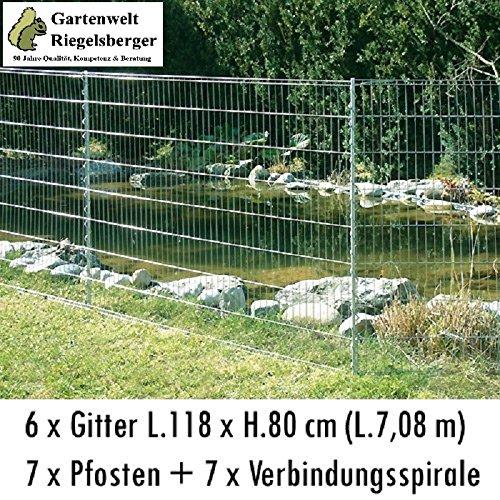 Kleintiergehege Teichschutzzaun Set H80 X L710cm, Spielplatzbegrenzung,  Gartenabgrenzung, Terrassenbegrenzung, Tiergehege, Baumschutzzaun