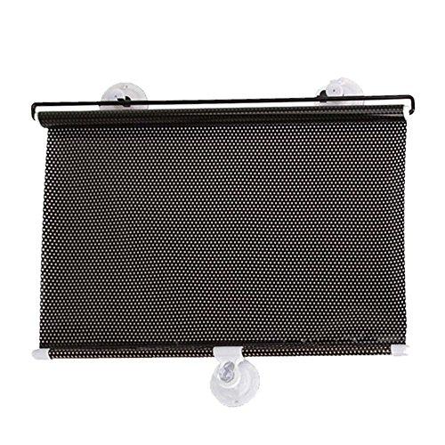 Vococal® 40 x 60cm Auto Universal Einziehbare Seitenscheiben Sonnenschutz Sonnenschutzrollos Roller Rollos - Auto Sonnenschutzrollos Markisen mit 3 Saugnäpfen
