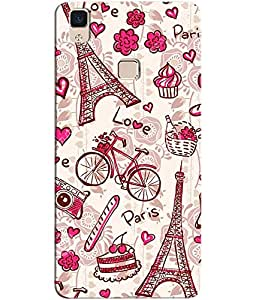 Vivo V3 Max Mobile Back Cover For Vivo V3 Max; It Is Matte glossy Thin Hard Cover Of Good Quality (3D Printed Designer Mobile Cover) By Clarks
